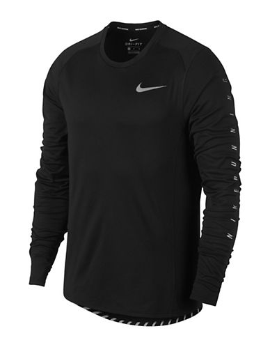 Nike Dry Flash Miler Running Top-BLACK-Large 89710030_BLACK_Large