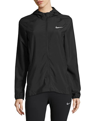 Nike Essential Hooded Jacket-BLACK-Small