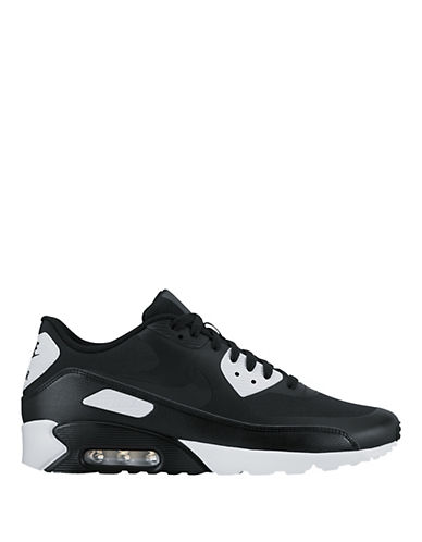 Nike Mens Air Max 90 Ultra 2.0 Essential Sneakers-WHITE/BLACK-10.5