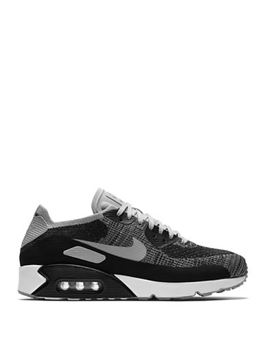 Nike Air Max 90 Ultra 2.0 Flyknit Shoes-BLACK-8