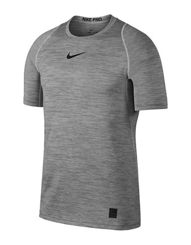 Nike Dri-Fit Pro Top-GREY-Large