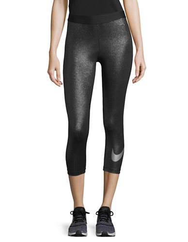 Nike Logo Cropped Leggings-BLACK-Large 89655563_BLACK_Large