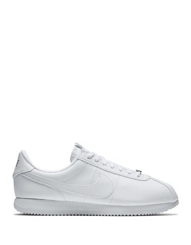 Nike Cortez Basic Leather Athletic Shoes-WHITE-9 89297333_WHITE_9