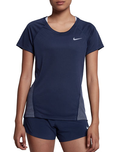 Nike Short Sleeve Striped-Side Tee-BLACK-Small 89655704_BLACK_Small