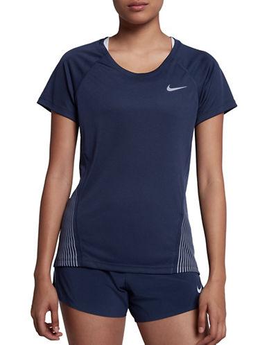 Nike Short Sleeve Striped-Side Tee-BLACK-Large 89655706_BLACK_Large