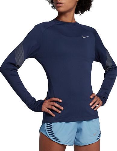Nike Dry Miler Flash Running Top-BLUE-X-Large