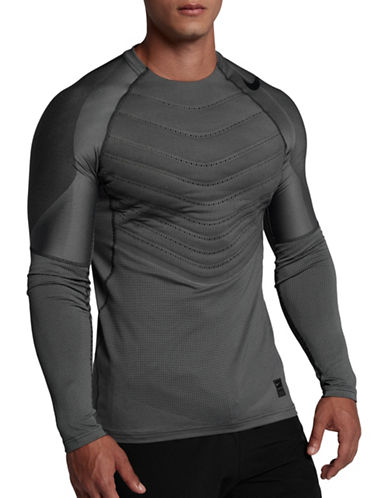 Nike Pro AeroLoft Long-Sleeve Tee-BLACK-X-Large