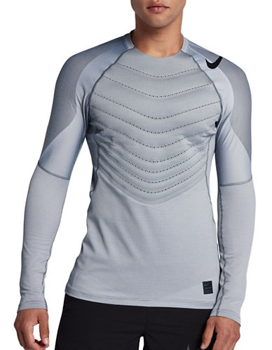Nike Pro AeroLoft Long-Sleeve Tee-GREY-Large
