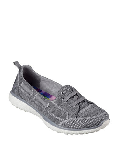 Skechers Womens Microburst Topnotch Sneakers-GREY-8.5