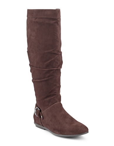 Degrees Verona Slouchy Boot-BROWN-5.5