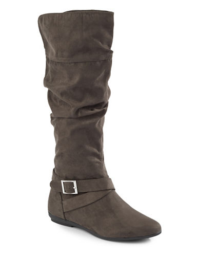 Lexi And Abbie Seville Slouch Boots-GREY-5