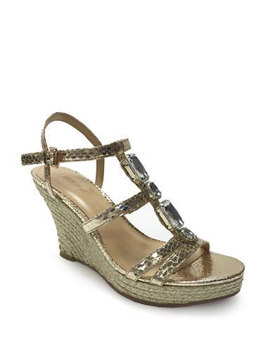 Expression Otis Jeweled Wedge Sandals-GOLD-7 88089730_GOLD_7