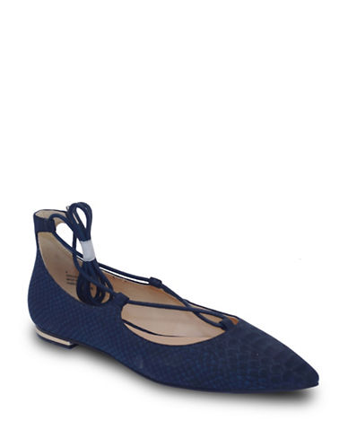 Expression Grace Tie-Up Flats-NAVY-7