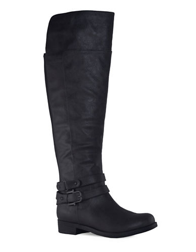 Lexi And Abbie Madrid2 Knee High Casual Boots-BLACK-5