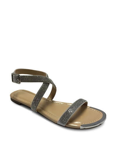 Expression Freya Studded Flat Sandals-NEW GREY-10