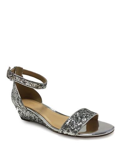 Expression Jasmin Demi Wedge Glitter Sandals-SILVER-8