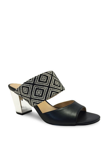 Expression Lula Faux Leather Slide Sandals-BLACK-10