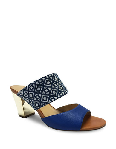 Expression Lula Faux Leather Slide Sandals-BLUE-8