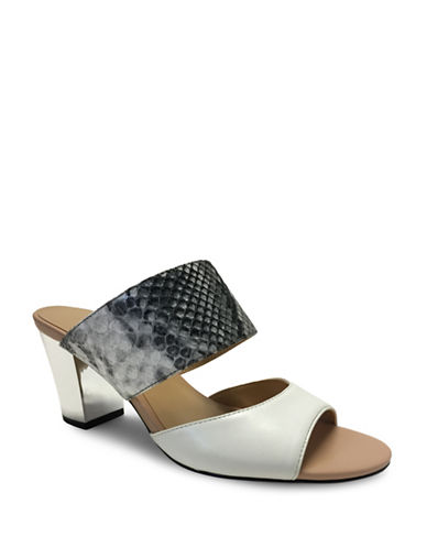 Expression Lula Faux Leather Slide Sandals-LIGHT GREY-9
