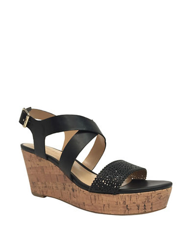 Expression Camila Perf Wedge Sandals-BLACK-10