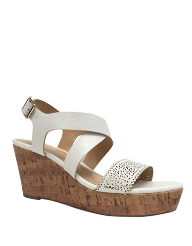 Expression Camila Perf Wedge Sandals-WHITE-10