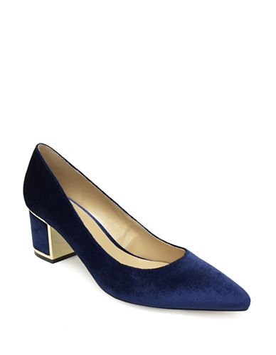 Expression Adora Block Heel Pumps-BLUE-8
