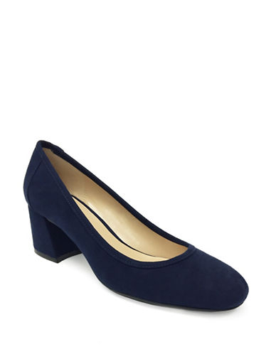 Expression Amara Round Toe Pumps-NAVY-7