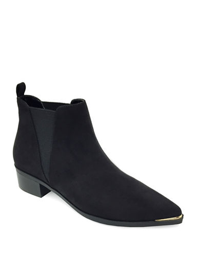Expression Tayla Toe Rand Suede Booties-BLACK-8