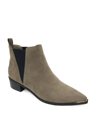 Expression Tayla Toe Rand Suede Booties-GREY-6
