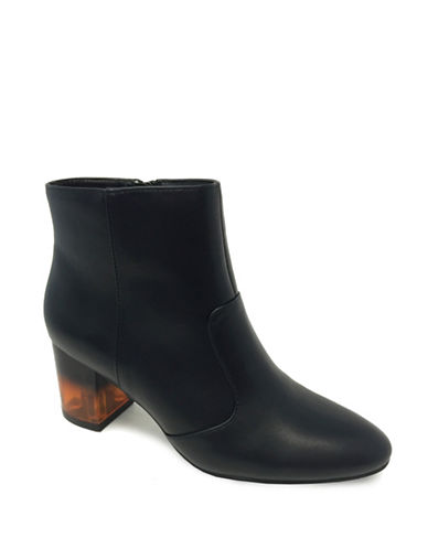 Expression Reena Lucite Ankle Boots-BLACK-10