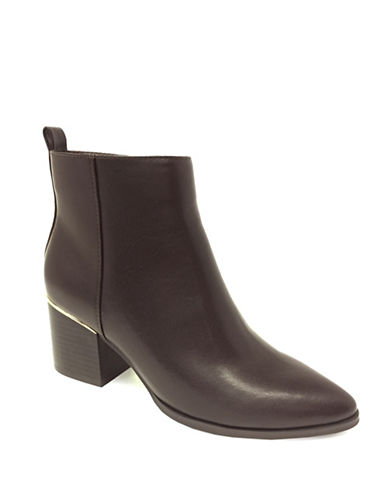 Expression Rory Block Heel Booties-BROWN-9