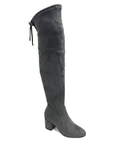 Expression Deena Over the Knee Boots-GREY-10