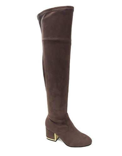 Expression Norah Over The Knee Boots-BROWN-10