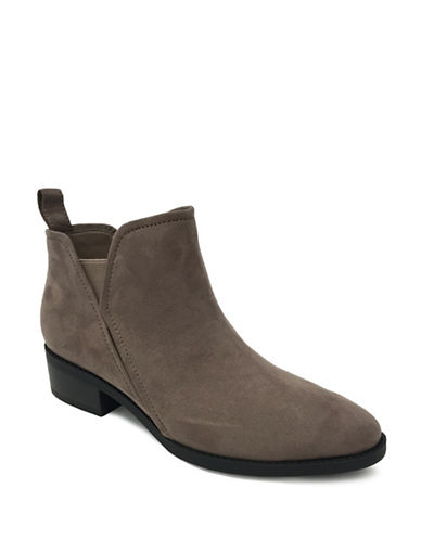 Lexi And Abbie Rayne Slip-On Booties-TAUPE-8.5