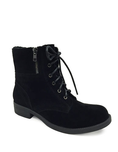Lexi And Abbie Devon Combat Booties-BLACK-8.5
