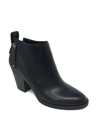Lexi And Abbie Double Zip Clara Booties-BLACK-7.5