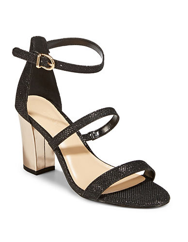 Expression Neena Block Heel Sandals-BLACK-6