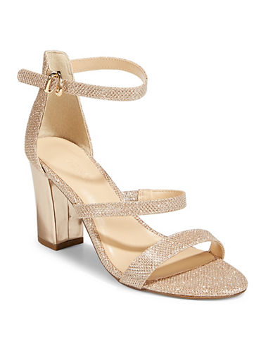 Expression Neena Block Heel Sandals-GOLD-8