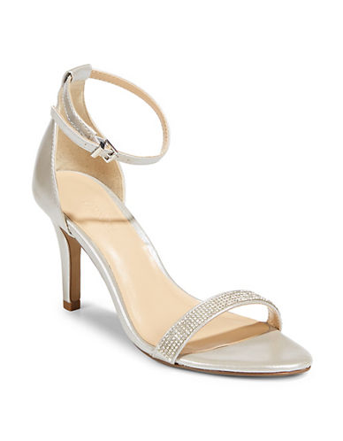 Expression Allie Jeweled Sandals-SILVER-9