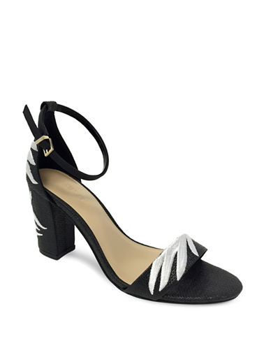 Expression Embroidered Heel Sandals-BLACK-9
