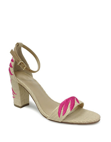 Expression Embroidered Heel Sandals-NATURAL/PINK-9