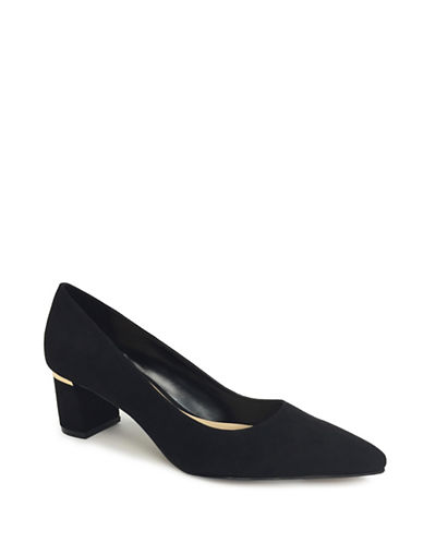 Expression Faux Suede Pumps-BLACK-7