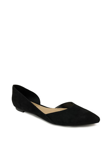 Expression Pointed Toe DOrsay Flats-BLACK-10