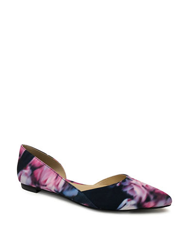 Expression Pointed Toe DOrsay Flats-FLORAL-8