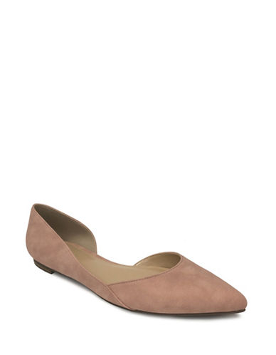 Expression Pointed Toe DOrsay Flats-PINK-10