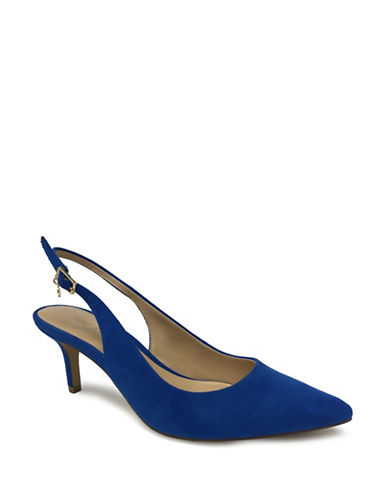 Expression Sandi Pointed Toe Slingback Pumps-BLUE-8