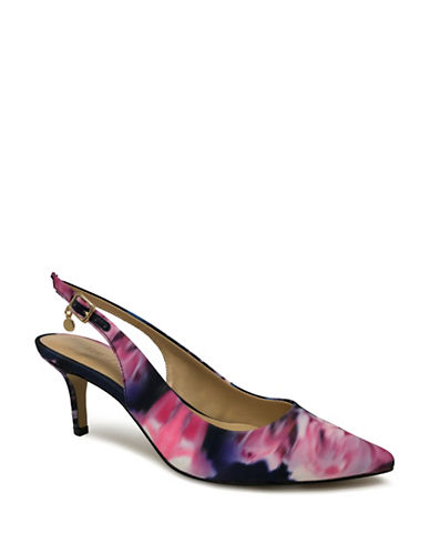 Expression Sandi Pointed Toe Slingback Pumps-FLORAL GREY-10
