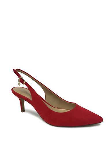 Expression Sandi Pointed Toe Slingback Pumps-SCARLET-7