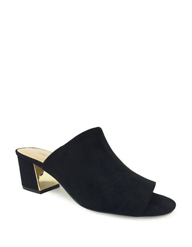 Faux Suede Open Toe Sandals by Expression
