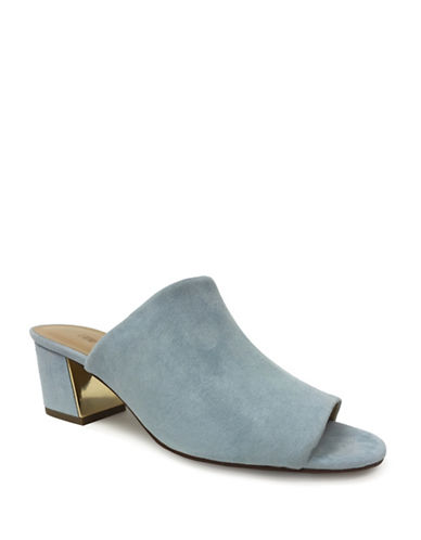 Expression Faux Suede Open-Toe Sandals-BLUE-6